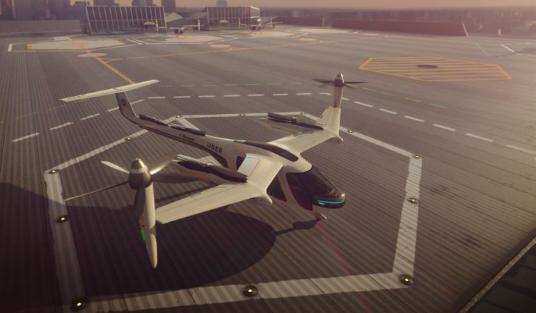 La compañía presenta sus taxis voladores.
