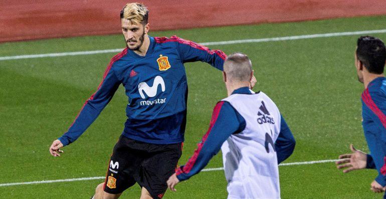 Luis Alberto, en el entrenamiento de la selección española en la Ciudad del Fútbol de Las Rozas para preparar los partidos ante Costa Rica y Rusia.