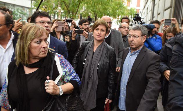 Ramona Barrufet y Anna Simó a su llegada a la sede del Supremo el jueves pasado