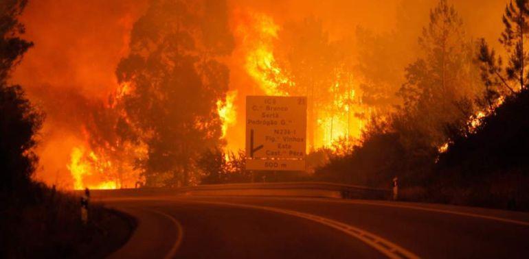 Una imagen de los incendios de Portugal