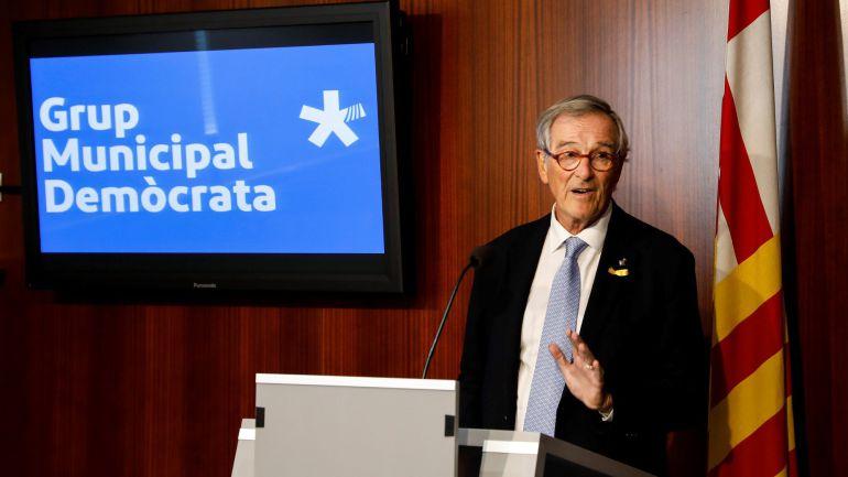 El exalcalde de Barcelona y jefe del grupo del PDeCat en el Ayuntamiento de la ciudad, Xavier Trias.