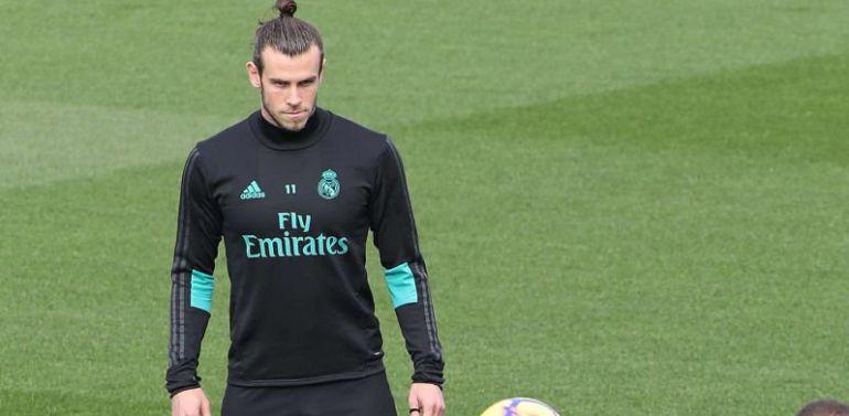 Bale, durante un instante de un entrenamiento la pasada semana