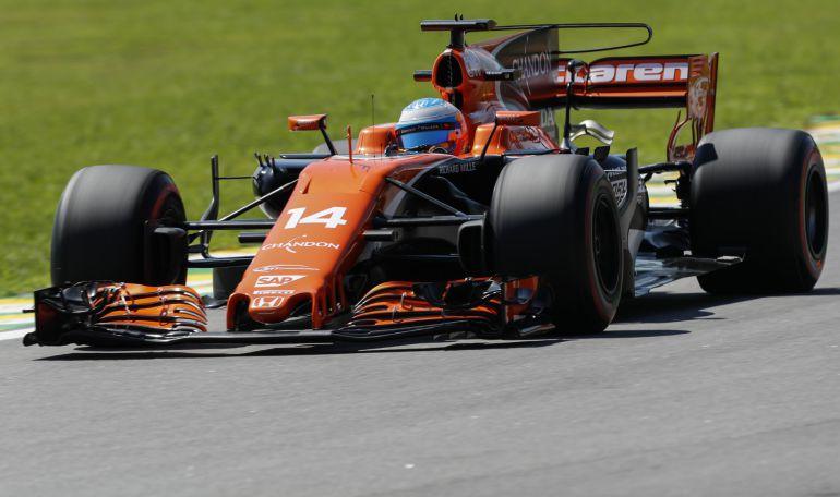 Fernando Alonso, en la primera jornada de entrenamientos libres en Interlagos.