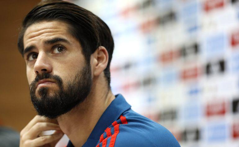 """El centrocampista de la selección española """"Isco"""" Alarcón."""