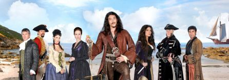 Elenco de la serie de Telecinco 'Piratas'.