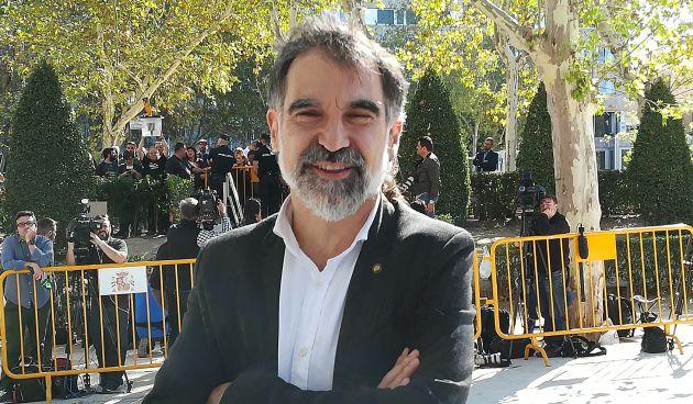 Jordi Cuixart el seis de octubre en la Audiencia Nacional