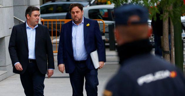 Oriol Junqueras en su llegada a la Audiencia Nacional