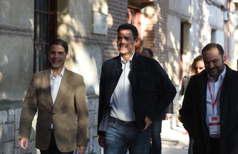 El secretario general del PSOE, Pedro Sánchez, a su llegada a la reunión del Comité Federal del partido