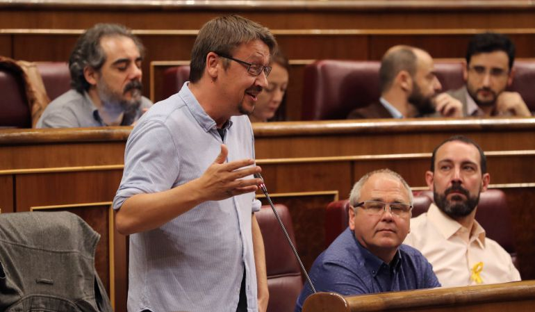 El portavoz de En Comù Podem, Xavier Doménech.