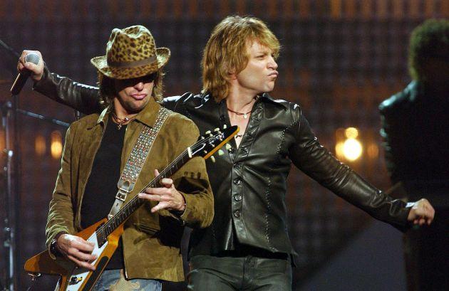 Bon Jovi durante la gala de los EMAs de 2002 en Barcelona.