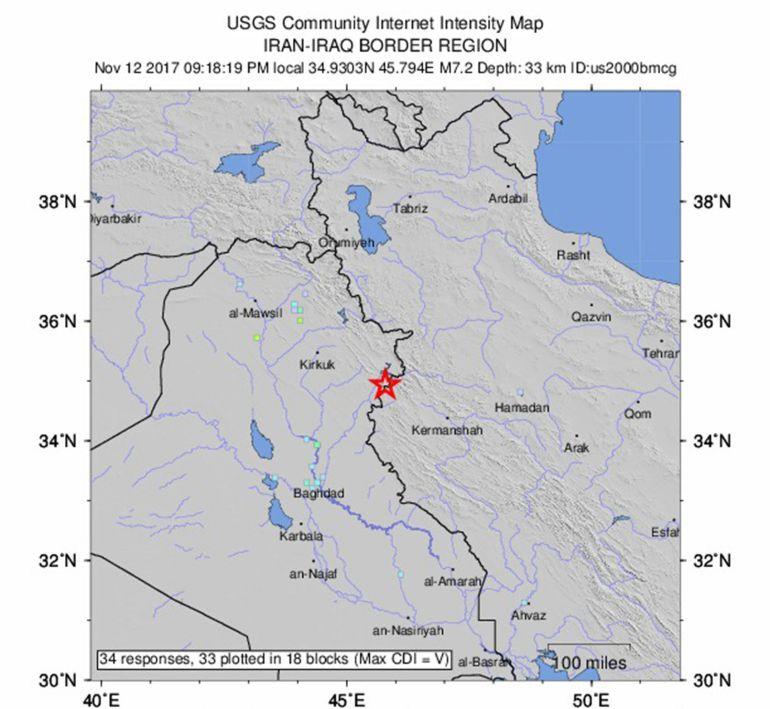 Al menos 6 muertos en un terremoto de 7,2 grados en la frontera entre Iraq e Irán