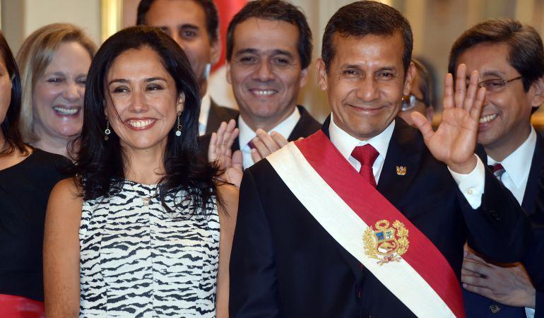 La exprimera dama de Perú, Nadine Heredia, junto con su marido el expresidente de Perú. Ollanta Humala, en una foto de archivo.