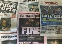 Fin, vergüenza y catástrofe, en la prensa italiana