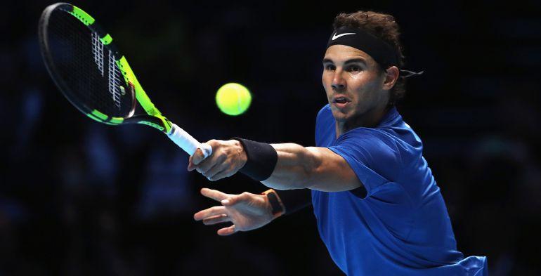 Rafa Nadal, en su encuentro ante David Goffin en las Finales de la ATP.