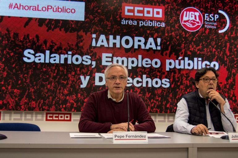 CCOO y UGT anuncian concentraciones en defensa del empleo público