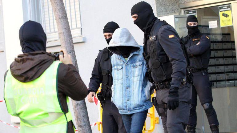 Imagen de arhivo de una de las anteriores operaciones contra el terrorismo yihadista en Cataluña