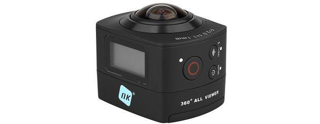 La cámara es capaz de grabar en 360 grados