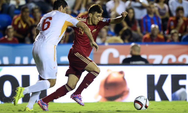 Munir, ante Macedonia en su único partido con la selección española.