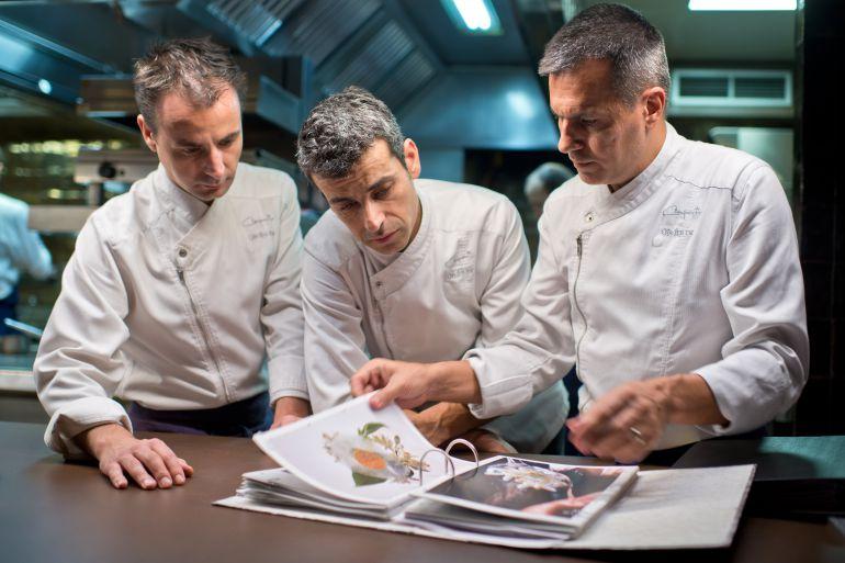 Oriol Castro, Eduard Xatruch y Mateu Casañas (Disfrutar).