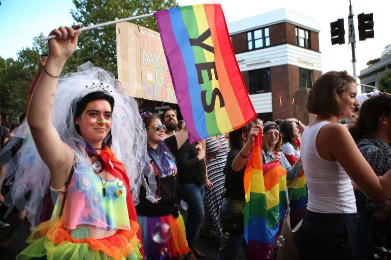 Miles de personas salieron a la calle celebrar el resultado de la votación mayoritariamente a favor del Si del matrionio homosexual.