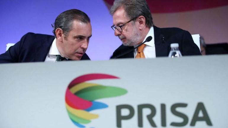 Manuel Mirat, consejero delegado de PRISA y Juan Luis Cebrián, presidente de PRISA
