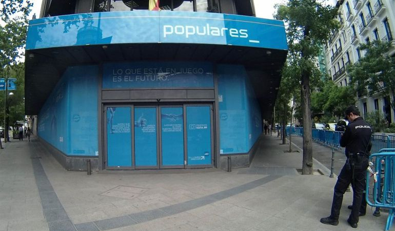 Sede del PP en la calle Génova 13 de Madrid.