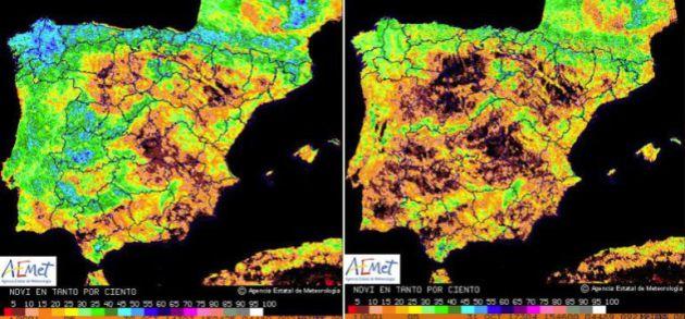 La imagen de la Península que demuestra que la sequía es un problema muy serio.