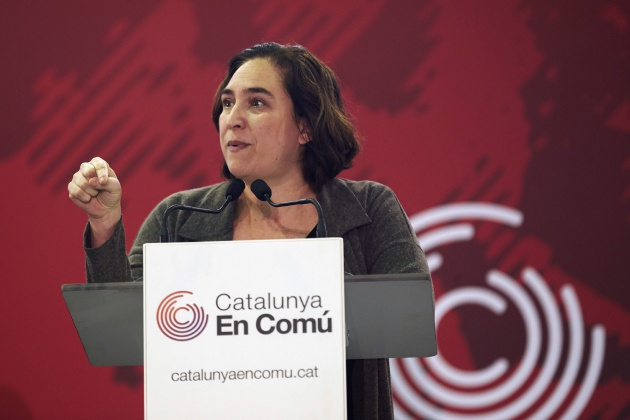 La alcaldesa de Barcelona, Ada Colau, durante la asamblea de Catalunya en Comú