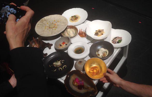 Los platos del Celler, en el Fòrum de Girona.