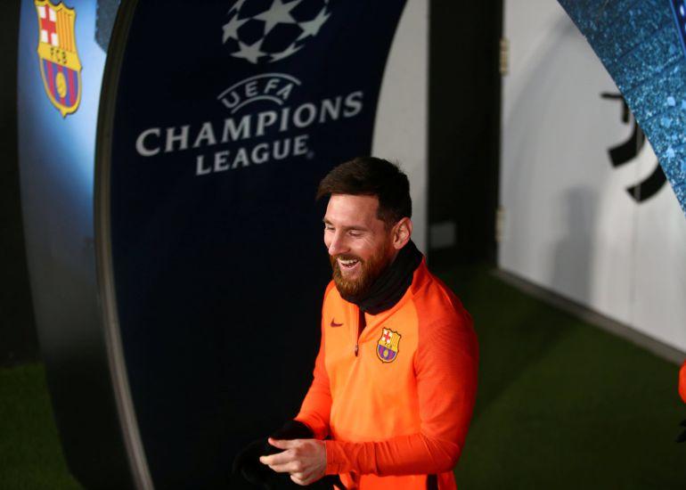 Messi, sonriente antes de un partido