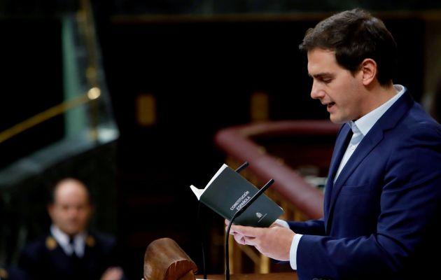 """El cupo vasco es para el presidente de Ciudadanos, Albert Rivera, """"un cuponazo"""" y un """"amaño político""""."""