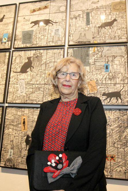 La alcaldesa de Madrid, Manuela Carmena, en la exposición 'Pongamos que hablo de Madrid' en Guadalajara