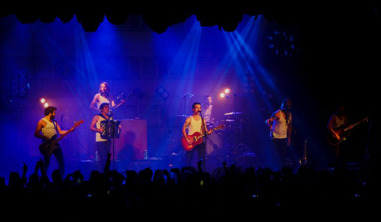 La M.O.D.A durante el concierto que dio ayer en la Sala La Riviera (Madrid).