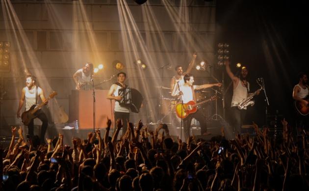 La M.O.D.A. durante su concierto en la sala La Riviera de Madrid