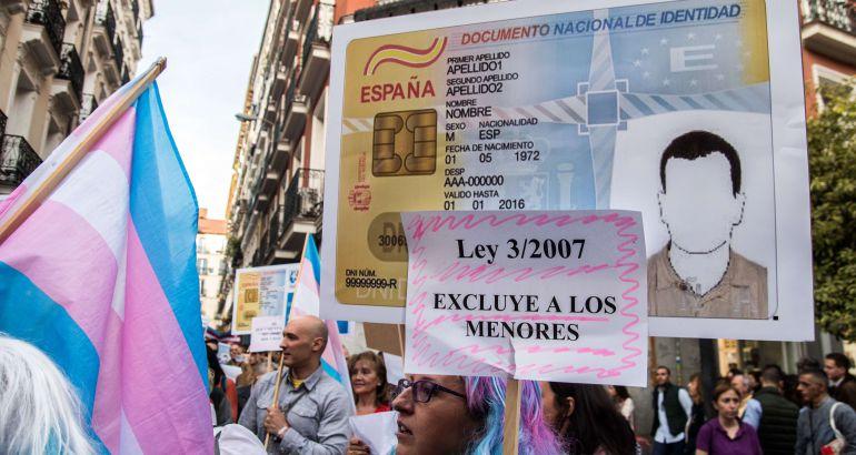 Manifestación el pasado mes de octubre en Madrid.