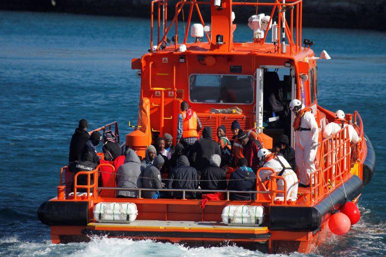 Imagen del rescate realizado en el Estrecho el pasado 18 de noviembre