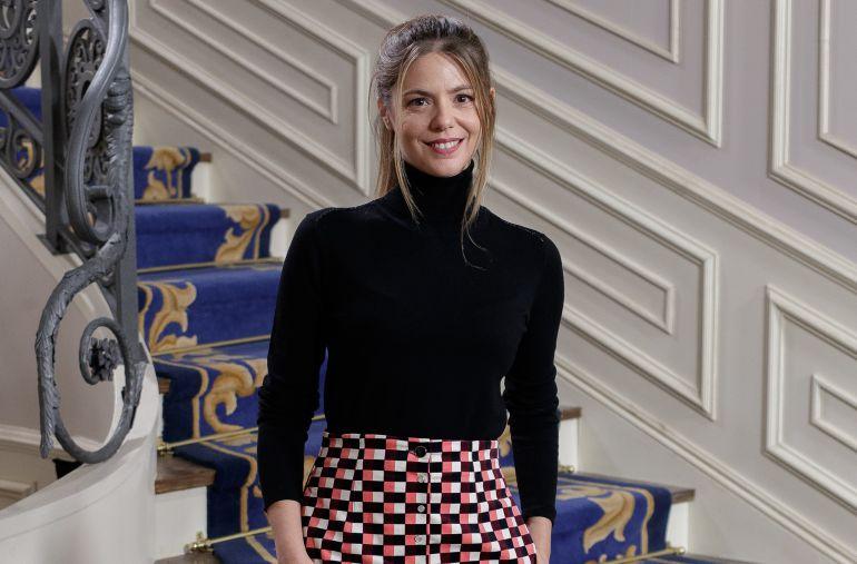La actriz Manuela Velasco durante la presentación de la serie 'Traición'