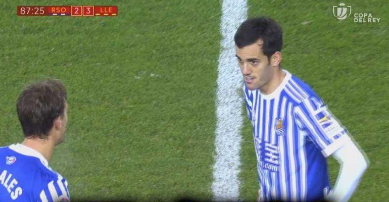 Juanmi pregunta a Canales si con el tercer gol del Lleida se queda fuera la Real