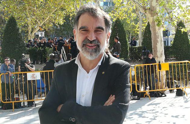 Jordi Cuixart en su primera comparecencia en la Audiencia Nacional