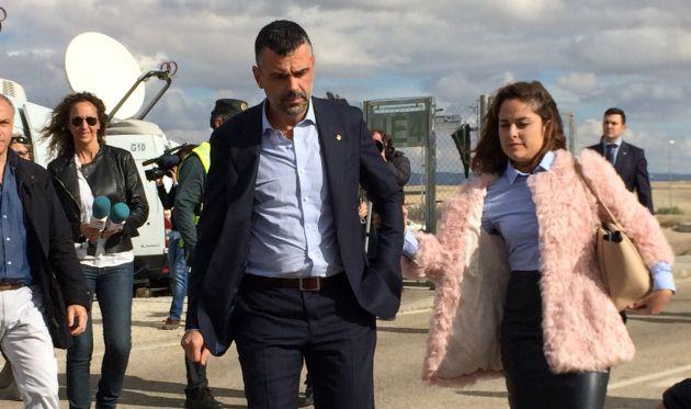El exconseller Santi Vila tras salir de la cárcel de Estremera