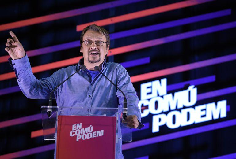 El candidato a la presidencia de la Generalitat de Catalunya por En Comú Podem, Xavier Domènech.