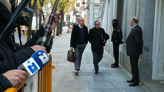 Francesc Homs y el abogado Javier Melero llegan al Supremo