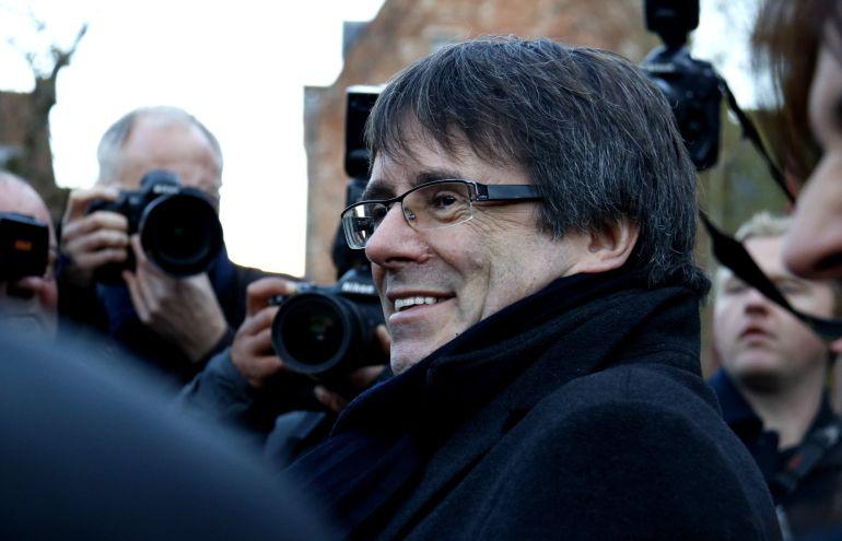 Carles Puigdemont en su visita a Brujas el 25 de noviembre