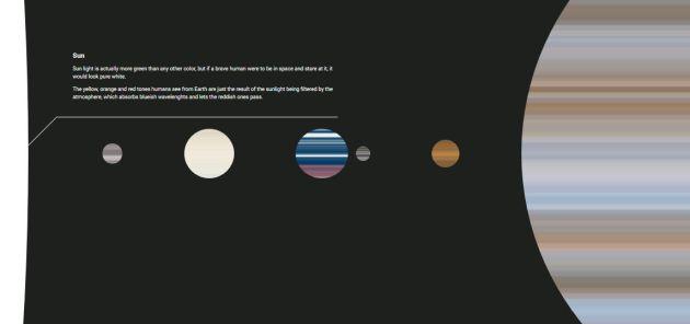 Los colores reales del espacio.