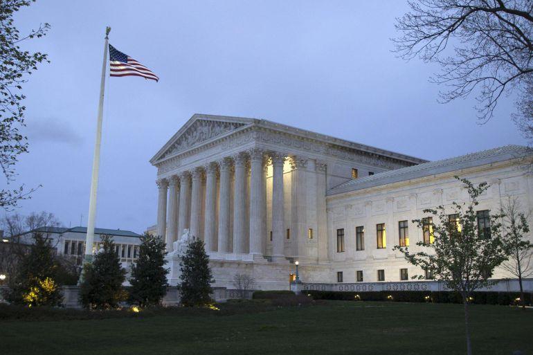 Fotografía de archivo del 7 de abril de 2017 de la sede la Corte Suprema de Justicia en Washington (EE.UU.)