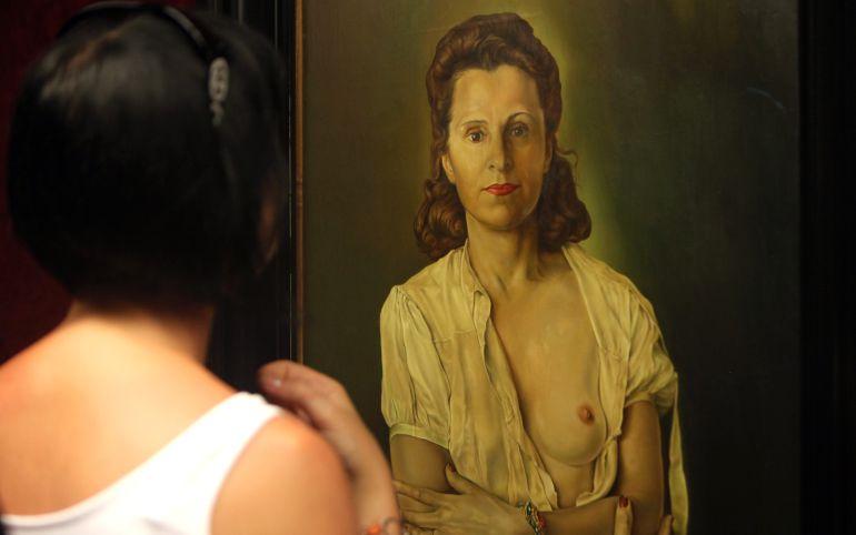 El retrato de Gala pintado por Salvador Dalí.