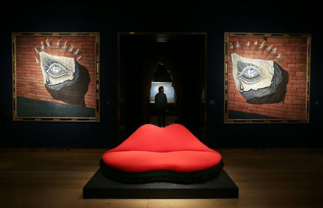 El famoso diseño del sofá de Salvador Dalí.