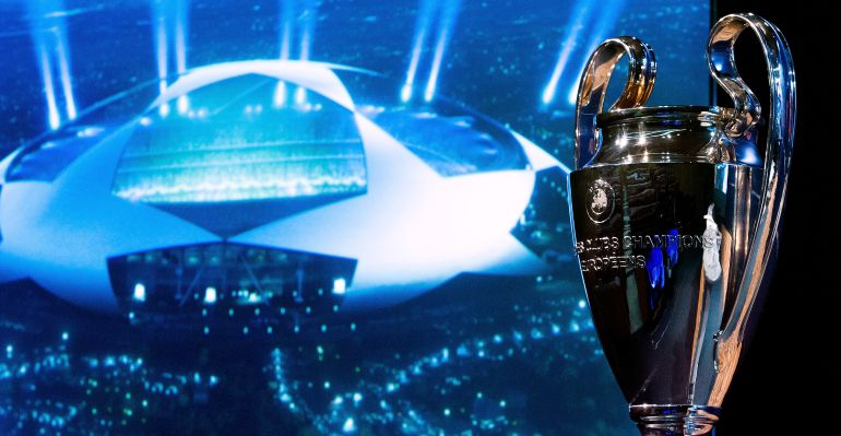 Imagen del sorteo de octavos de la Champions
