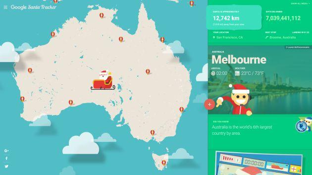 Podrás saber dónde se encuentra Papá Noel en cada momento.