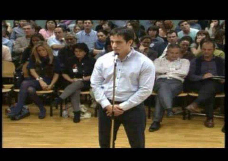 Diego Yllanes, durante el juicio en el que fue condenado a doce de cárcel por el asesinato de Nagore Laffage.